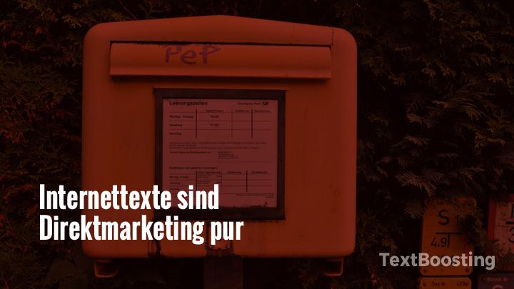 Internettexte sind pures Direktmarketing