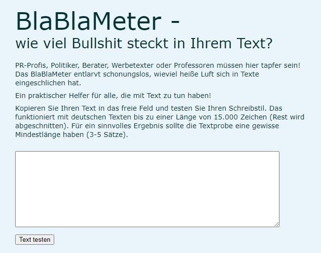 BlaBlaMeter-Test: Wie viel Bullshit steckt in Ihrem Text?