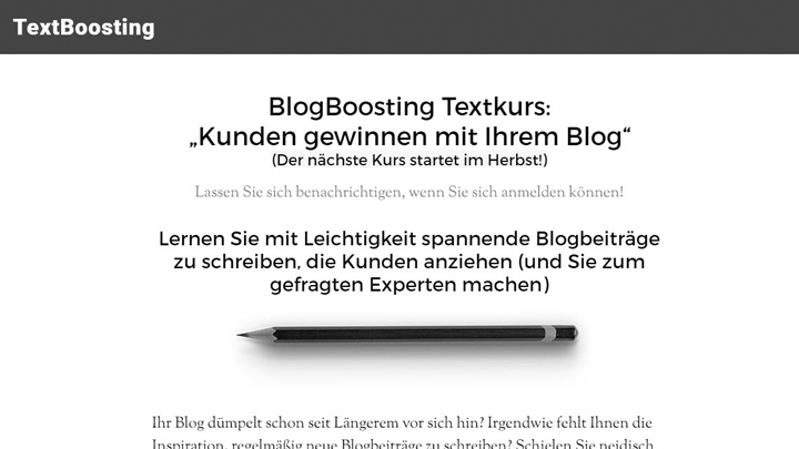 BlogBoosting-Textkurs
