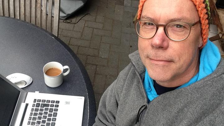 Der Autor bei der Arbeit