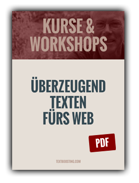TextBoosting Kurse & Workshops