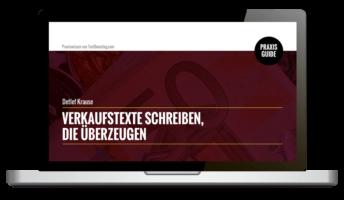 "Praxisanleitung ""Verkaufstexte schreiben"""