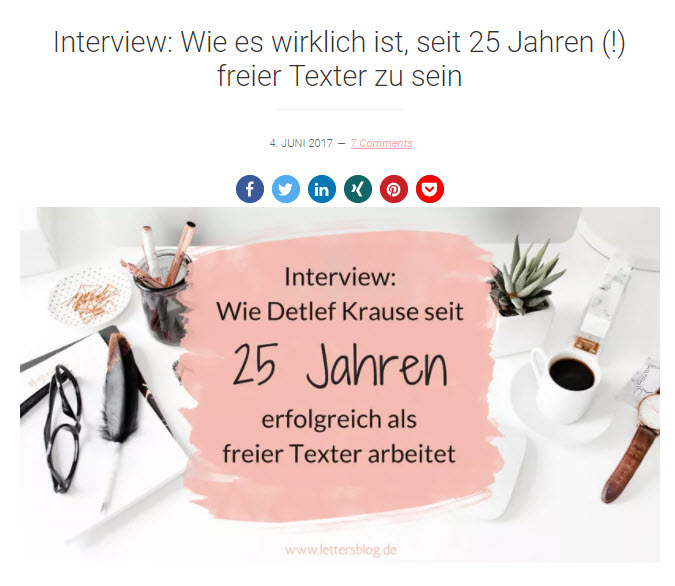Interview: Wie es wirklich ist, seit 25 Jahren (!) freier Texter zu sein