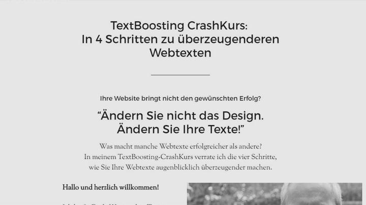 TextBoosting-CrashKurs