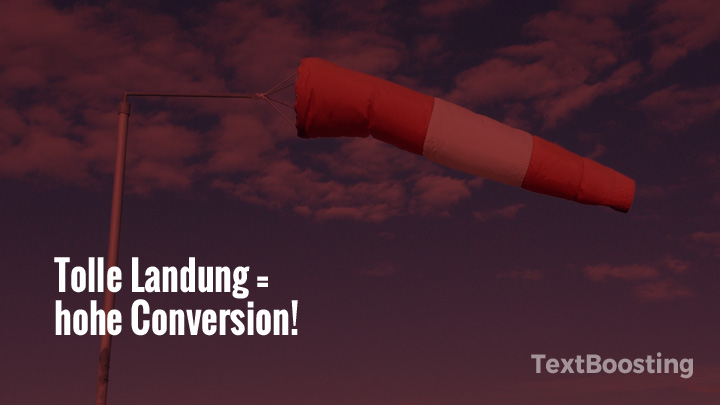 Tolle Landung = hohe Conversion