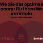 Texterhonorare: Was kostet ein Webtext?