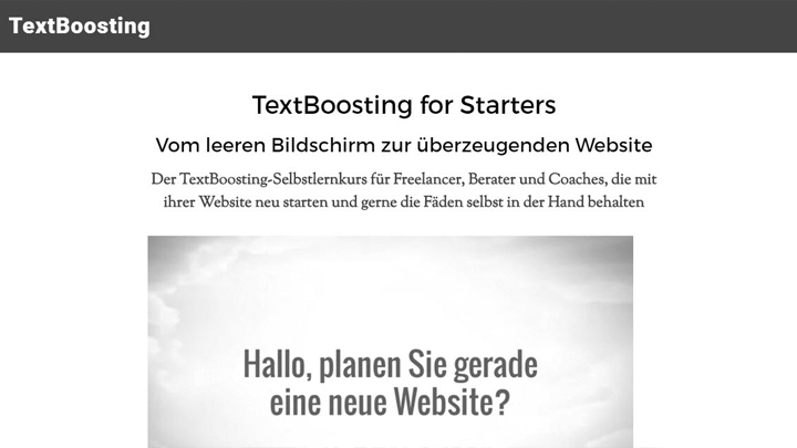 TextBoosting for Starters